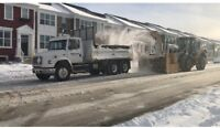 Truck driver for snow haul