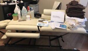 Table de massage masso-kit