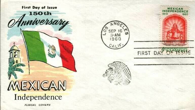 FLUEGEL 1157 Mexican Independence Mission 150th Ann. Los Angeles, CA - $2.00