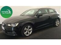 ONLY £228.66 PER MONTH BLACK 2012 AUDI A3 2.0 TDI SPORT 3 DOOR DIESEL MANUAL