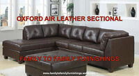 **SUMMER SALE** OXFORD AIR LEATHER SECTIONAL