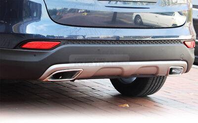 Rear Bumper Diffuser Dual Type Muffler For HYUNDAI 2013 - 2016 Santa Fe DM