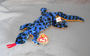 Lizzy the blue lizard Ty Beanie Baby stuffed animal