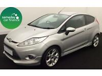 £118.12 PER MONTH SILVER 1.6 FORD FIESTA 1.6 ZETEC S 3 DOOR DIESEL MANUAL
