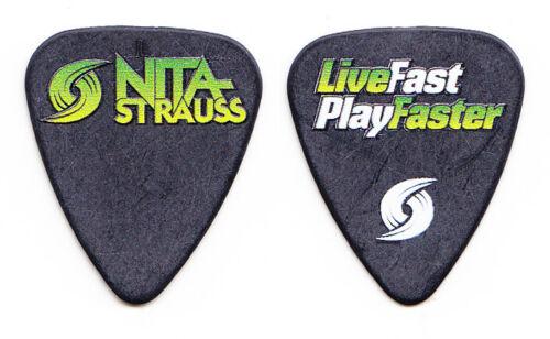 Alice Cooper Nita Strauss Live Fast Play Faster Black Guitar Pick - 2017 Tour