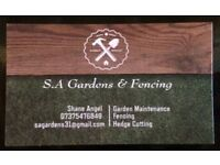 S.A Gardens & Fencing - Garden Maintenance, Fencing & Hedges