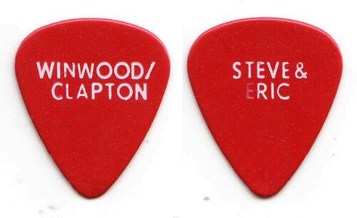 Eric Clapton Steve Winwood Signature Red Guitar Pick - 2010 Tour