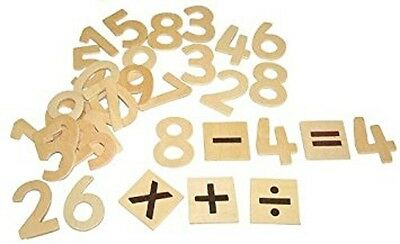 30 Learning Numbers And Symbols Wooden Kids Maths Counting Educational Toy
