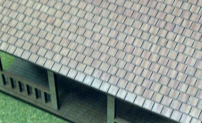 Ho Scale Laser Cut Brown Roofing Shingles