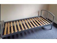 Quality Sturdy Metal Single Bed Frame Kids Child Boy Girl Teenager Bedroom Landlord Rental