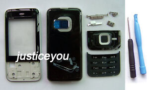 Full New faceplate housing cover + keypad fit for Nokia N81 8GB 8G