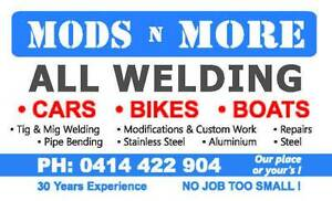 MODS N MORE Cars Bikes N Boats Welding and Fabrication Belmont North Lake Macquarie Area Preview