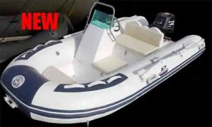 """2017 - 12"""" Hard Bottom Inflatable boat, 20 HP w console362"""