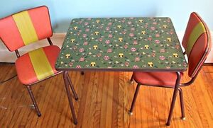 Upcycled Retro Children's Table set