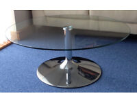 Glass & Chrome Levv Coffee Table
