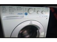 White Indesit washing machine