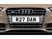 R27 DAN NetPlates Personalised Cherished Car Registration Plate Private Number Plate BMW AUDI JAG VW