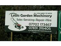 Lawnmower servicing, repair and sales