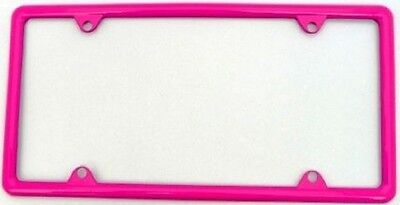HOT PINK METAL SLIMLINE LICENSE PLATE FRAME - Hot Pink Plates