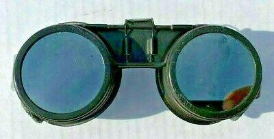 Vintage Metal Flip Up Welding Goggles Safety Lens For Gas Welders Steampunk