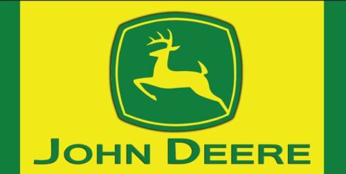 JOHN DEERE TRACTOR Equipment Logo Garage Shop Quality Vinyl Banner Sign  8 x 4