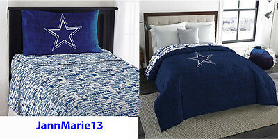 NEW! NFL DALLAS COWBOYS Blue Twin or Full Size Comforter & Sheet SET GO - Dallas Cowboys Twin Sheet Set