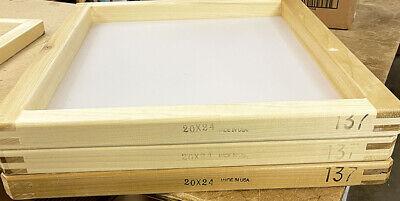 3 Pack 20x24 Wood Screen Printing Frame W 137 Mesh 2024137