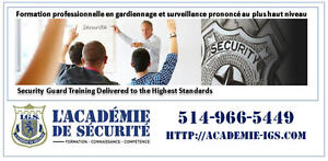 SECURITY GUARD TRAINING $275.00 (MAY ENGLISH EVENING CLASSES)