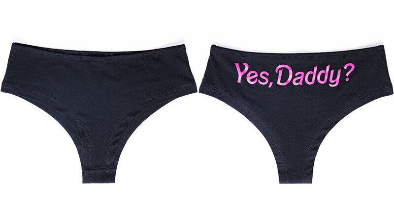 SeXy Slip Yes Daddy String Tanga Wäsche Damen Dessous GoGo Pink Weiß Schwarz