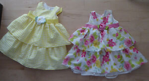 2 gorgeous George dresses $ 5 each, size 18 - 24m, $ 5 ea