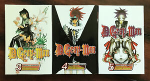 D. Gray-Man and 07-Ghost Manga (assorted volumes)
