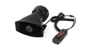 Electronic siren with mic