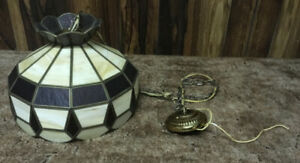 VIntage Stained Glass Tiffany Style Ceiling Lamp