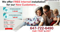 HIGH SPEED INTERNET 50mbps - $49.95/Month*(Special)