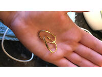 9ct gold twisted creoles