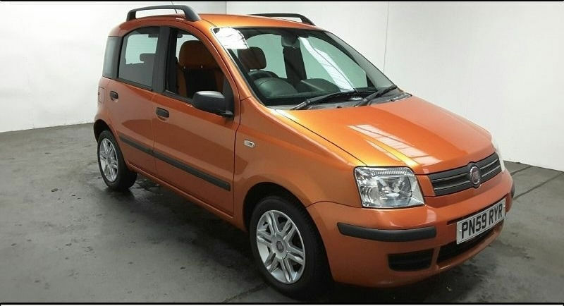 2009 59 fiat panda 1 2 automatic met orange low miles lovely car great value in roath cardiff. Black Bedroom Furniture Sets. Home Design Ideas