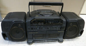 Vintage Fisher PH-D8000 Ghetto Blaster Boombox Dual Cassette CD