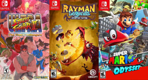 Selling/Trading Switch Mario Odyssey, Rayman, Street Fighter 2