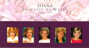 Timbres Diana Princess of Wales NEUFS