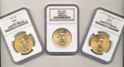 NOW TAKING LOW OFFERS   $20.00 GOLD SAINT GAUDENS NGC MS 65