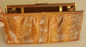 "Snake  Skin New Italian designer clutch shoulder handbag 12"" X 6"