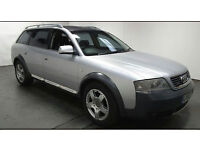 2003(53)AUDI A6 ALLROAD 2.5 TDi QUATTRO AUTOMATIC MET SILVER,LOW MILES,LEATHER,CLEAN CAR,GREAT VALUE