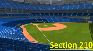 Blue Jays vs Tampa Bay Rays - Section 210 Row 1