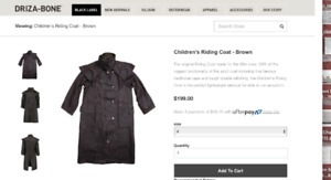 childs riding oilskin coat