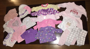 BABY GIRL LOT - size 0-3months