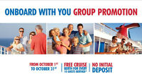 Carnival Group Opportunity-Book Now- No Deposit- Ends Oct 31,