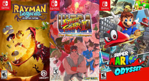 Switch Games For Sale or Trade - Mario, Rayman, Street Fighter 2