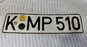 2 Germany Licence / License Plates