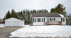 Cozy bungalow with double detached garage and private backyard!