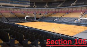 Toronto Raptors vs Sacramento Kings - S106 Row 12 (Below Face)